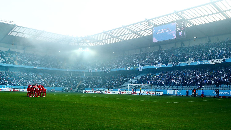 Bortamatch för IFK Norrköping på Swedbank Stadion i Malmö
