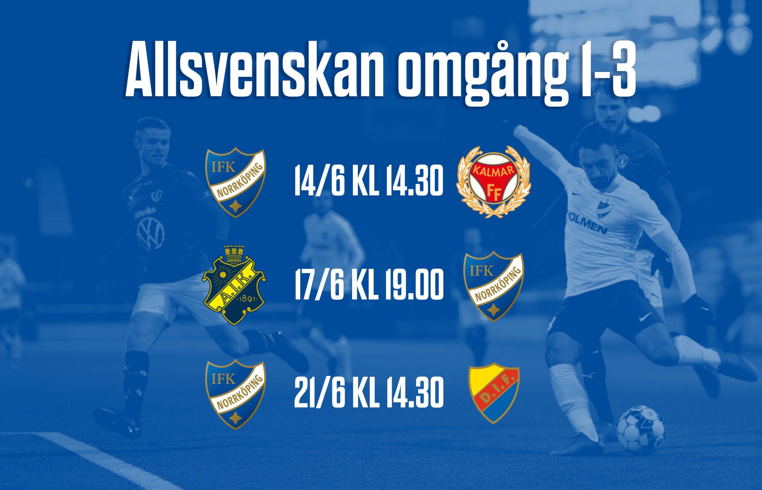 Omgang 4 6 Av Allsvenskan Har Faststallts Ifk Norrkoping