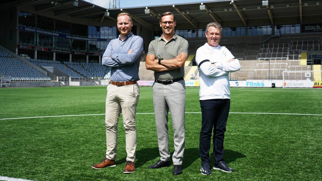 Ordföranden Sakarias Mårdh, nye klubbdirektören Magnus